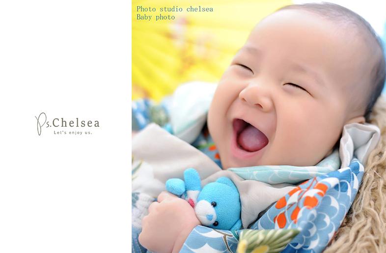 笑った顔が最高に可愛い赤ちゃんです百日記念のお客様です