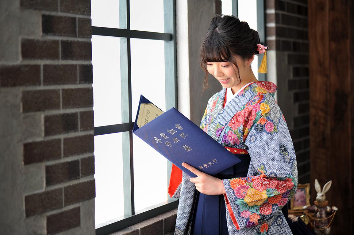卒業袴支度撮影