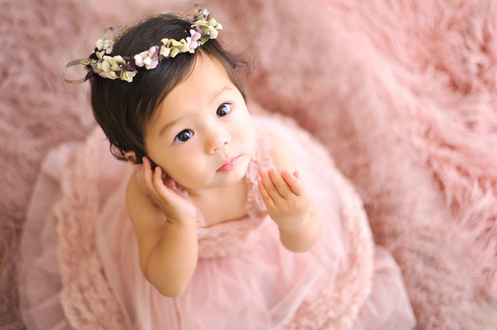 1歳バースデー(誕生日記念):ピンクドレス