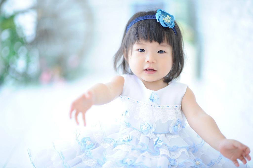 1歳バースデー(誕生日記念):白ドレス