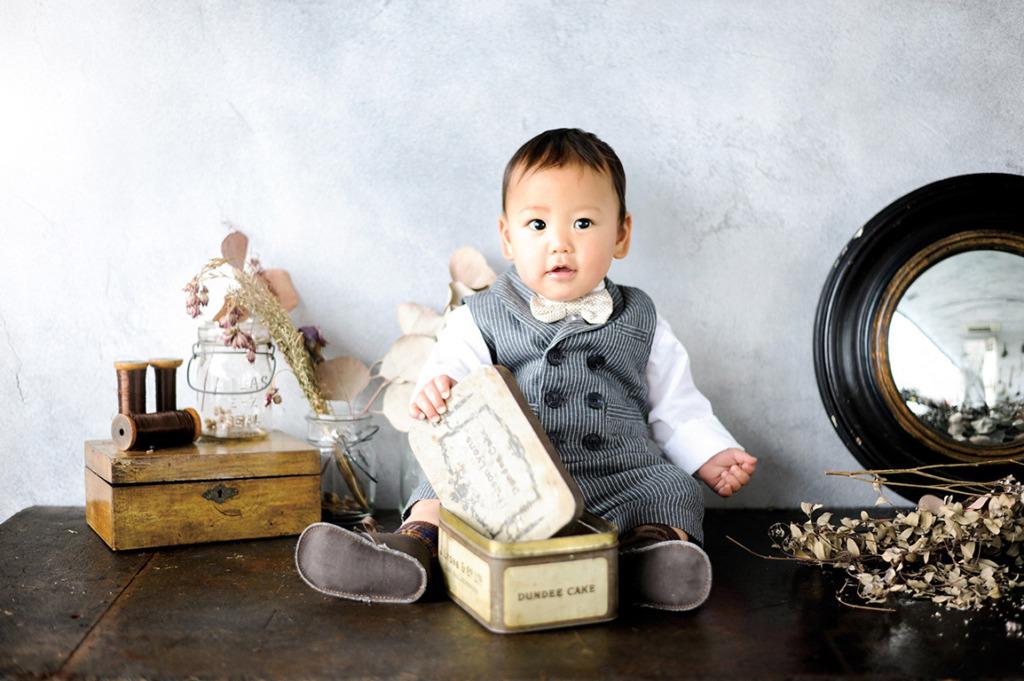 1歳バースデー(誕生日記念):カジュアルタキシード