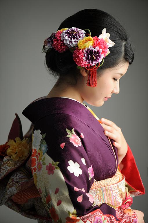 成人女性写真:紫