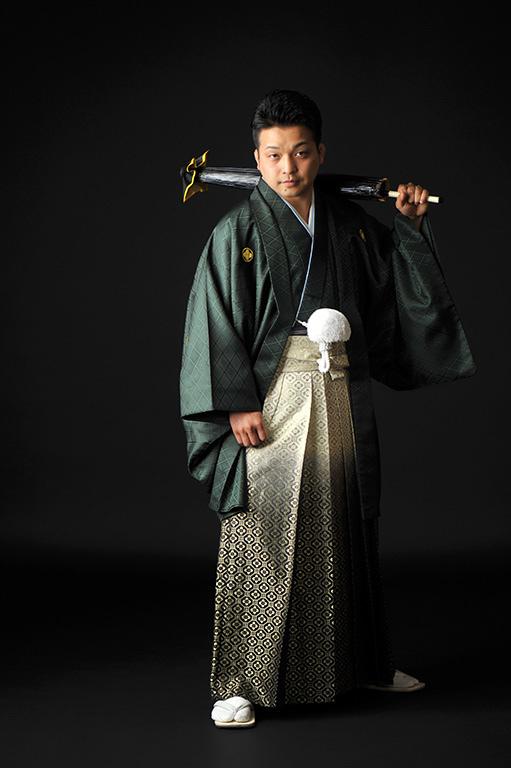 ウエディングフォト:紋服/緑