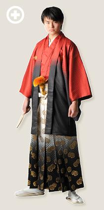 紋服:赤×黒 イ-紋-30