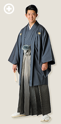紋服:グレー イ-紋-23