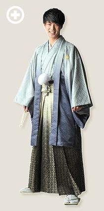 紋服:グレー イ-紋-18