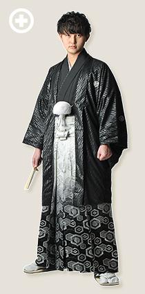紋服:黒(ゼブラ柄) イ-紋-10