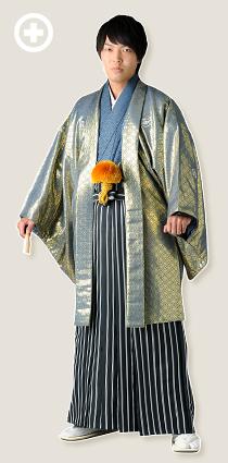紋服:グレー(光沢) イ-紋-21