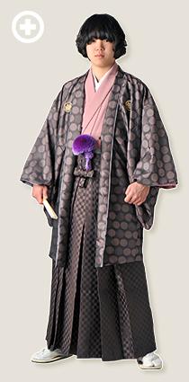 紋服:紫(ドット柄) イ-紋-24