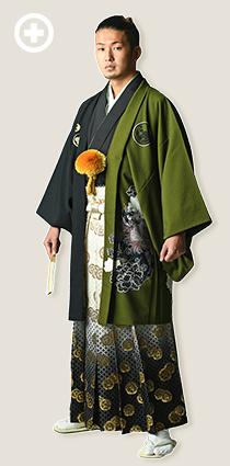 紋服:黒×緑 イ-紋-28