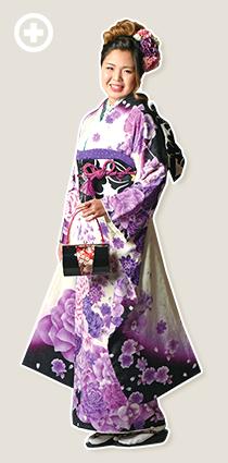 振袖:白×紫 イ-フ-21