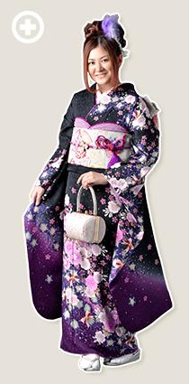 振袖:黒×紫 イ-フ-22