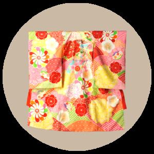 赤ちゃん着物(のしめ)女の子:赤色(JAPAN STYLE)