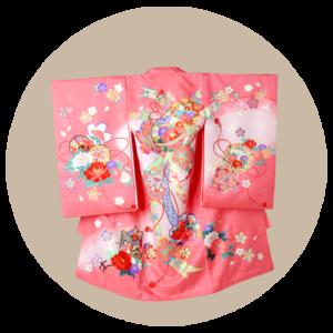 赤ちゃん着物(のしめ)女の子:ピンク