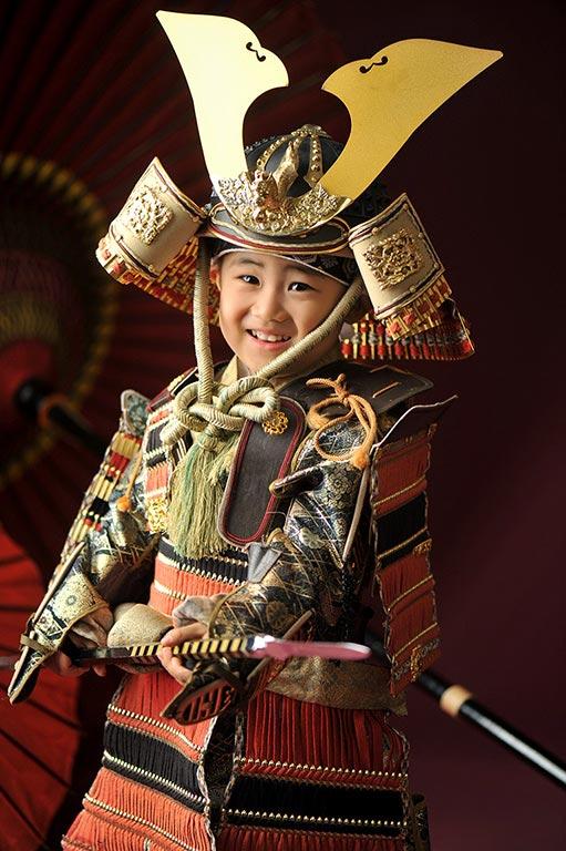 七五三3歳男の子:鎧兜