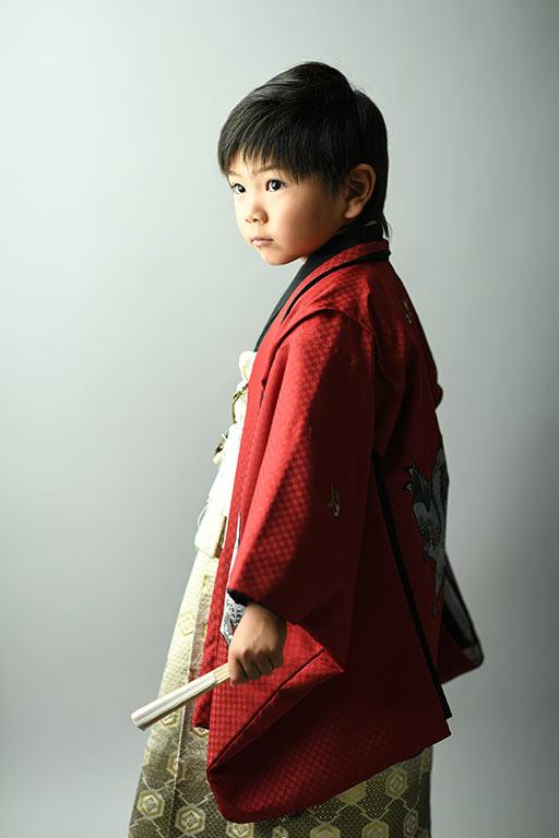 七五三5歳:着物/赤