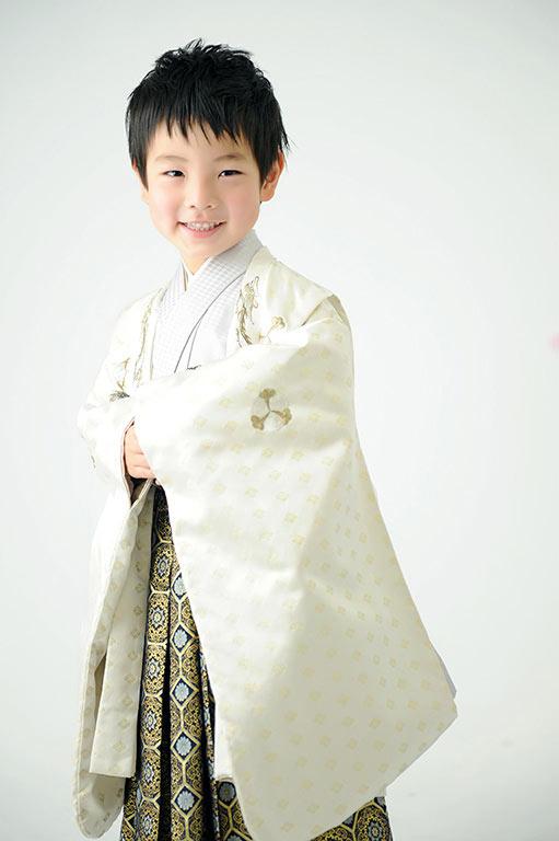 七五三5歳:着物/白