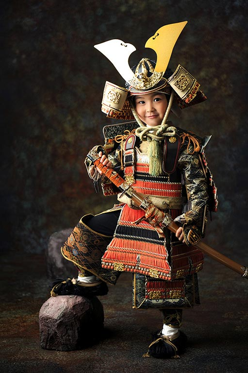 七五三5歳:鎧兜(甲冑)/黒カブト