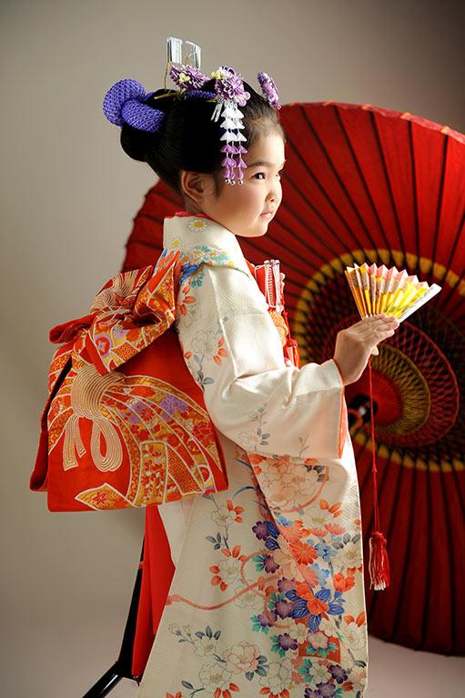 七五三7歳:着物/お持ち込み+日本髪