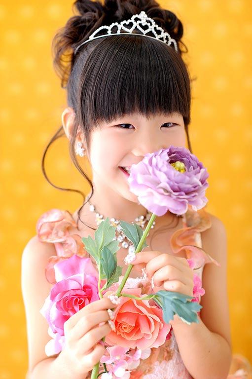 七五三7歳:ドレス/オレンジ