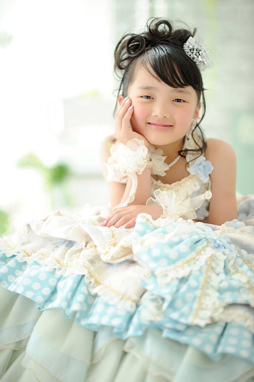 七五三7歳:ドレス/ブルー