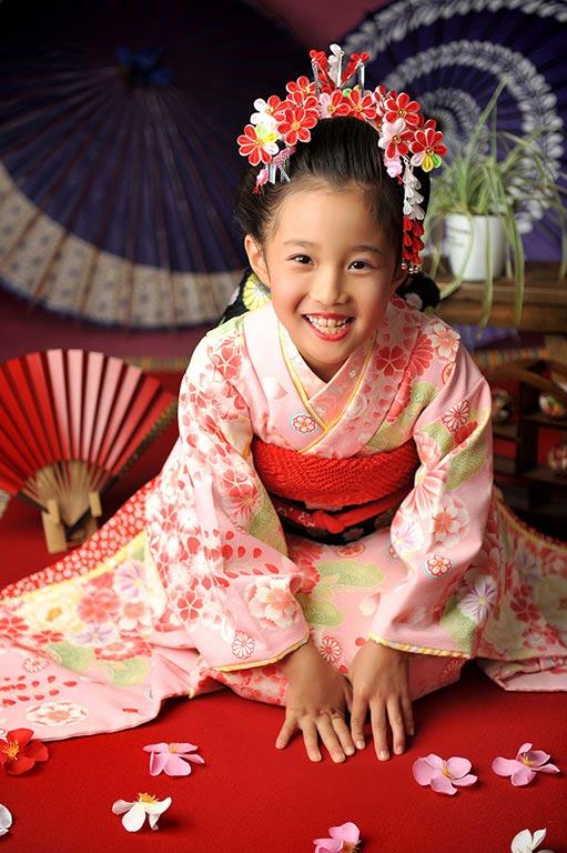 七五三7歳:時代衣裳/舞妓さん+日本髪