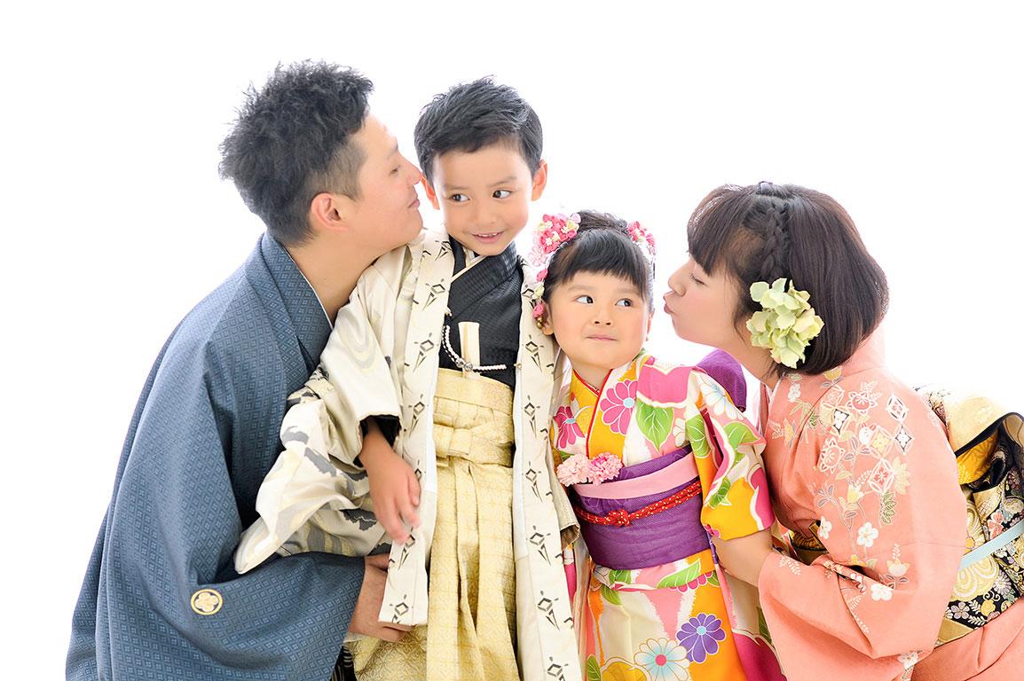 七五三家族写真:和装(着物)