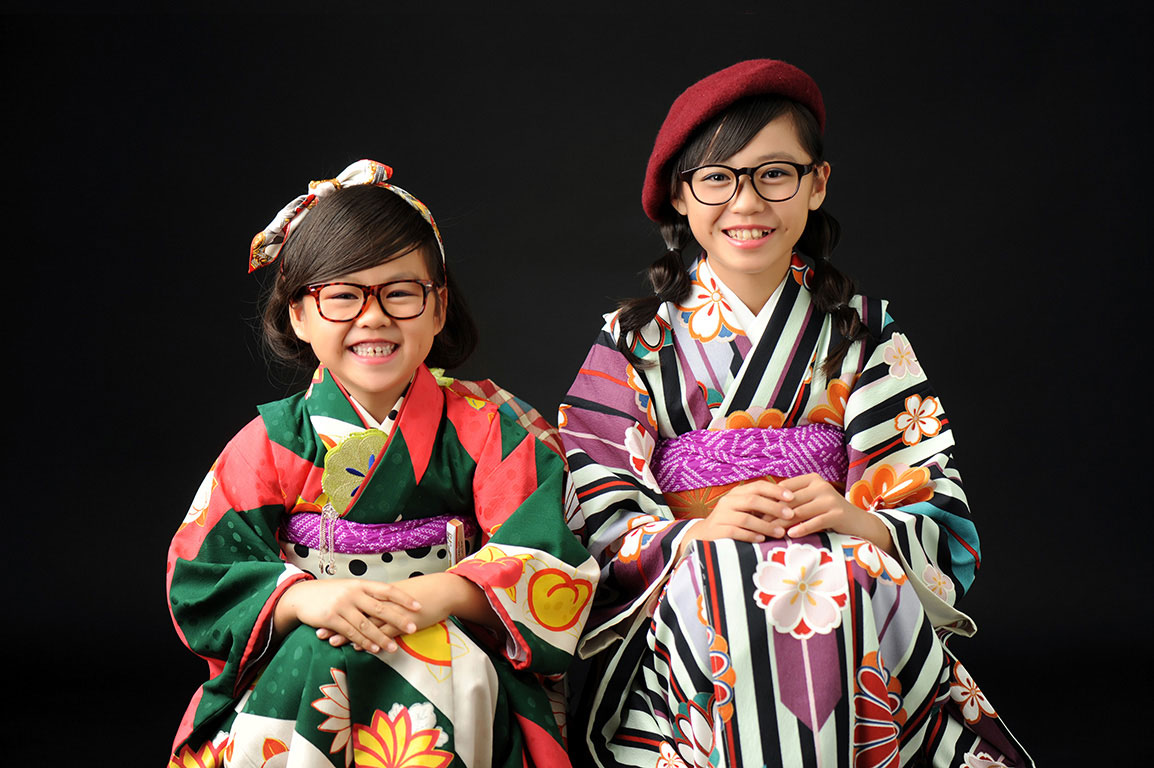七五三姉妹写真:着物