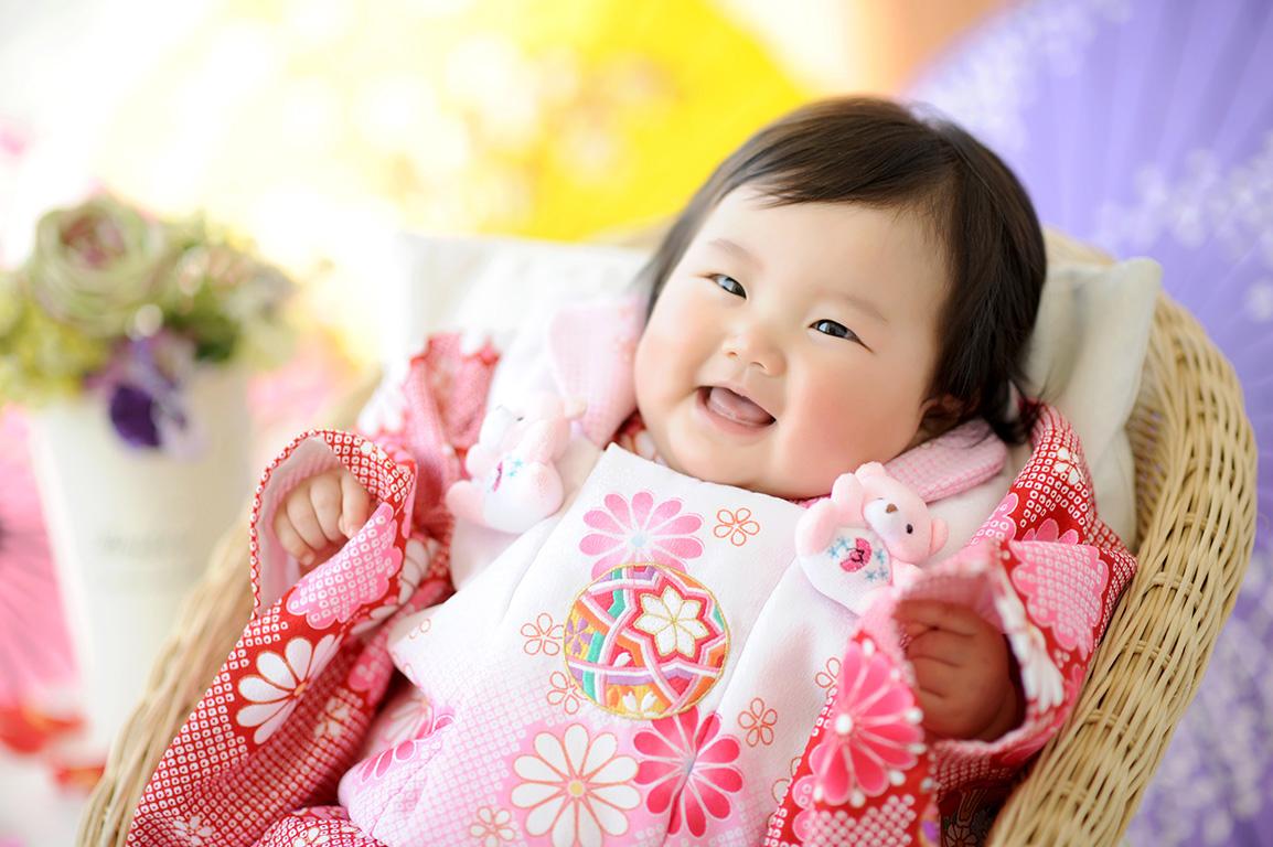 赤ちゃん:節句/女の子着物(ピンク)