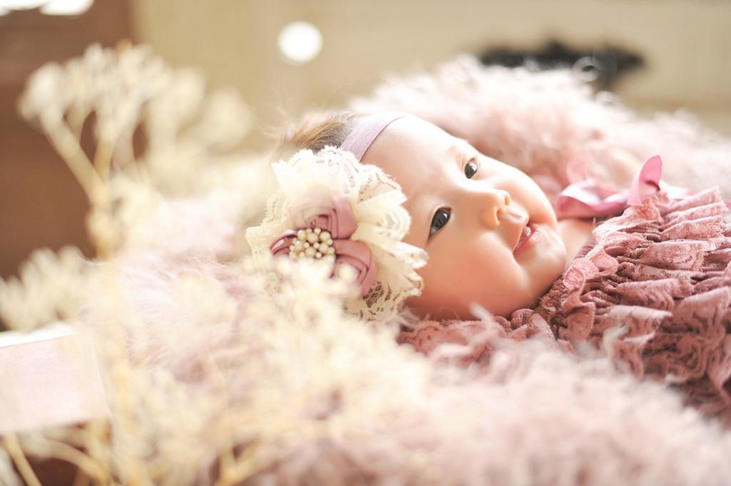 赤ちゃんカジュアル衣裳:ロンパースタイプ(ピンク)