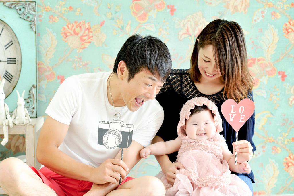 赤ちゃん:家族写真