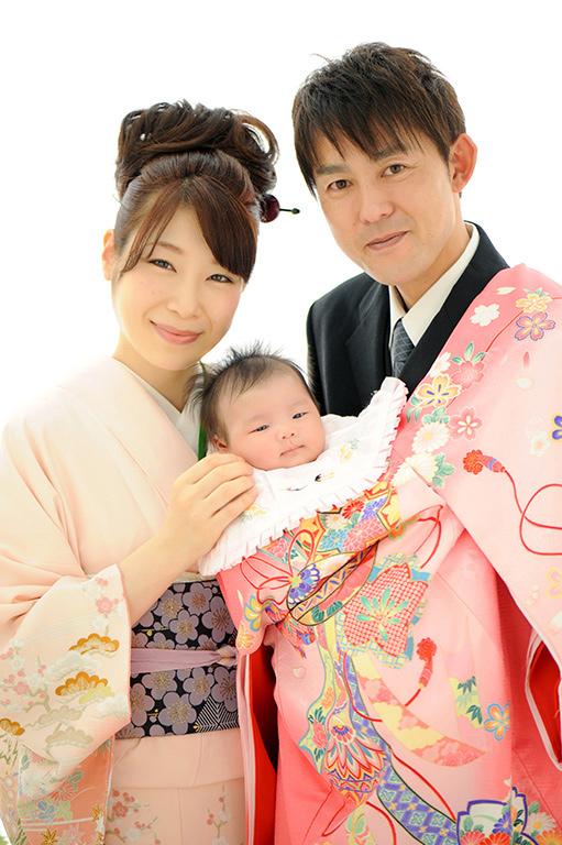 赤ちゃん:家族写真(着物支度)