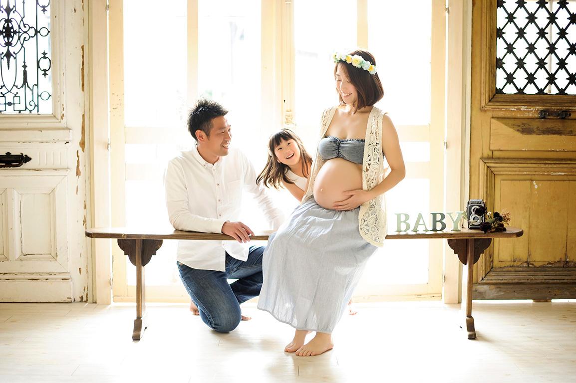 マタニティフォト:家族写真