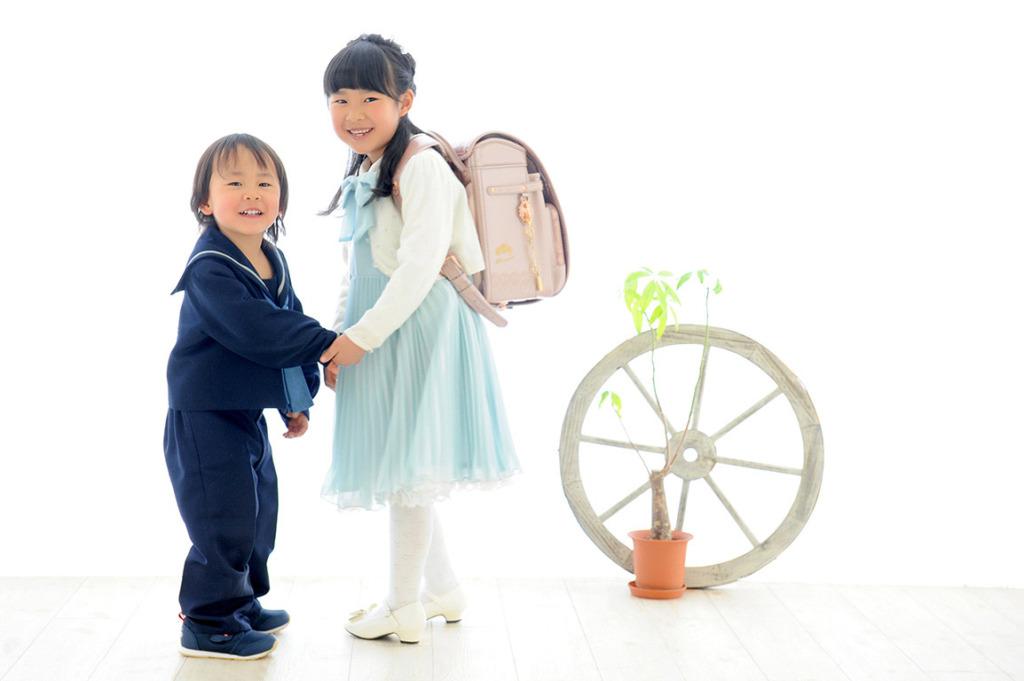 入園/入学/卒業:きょうだい写真