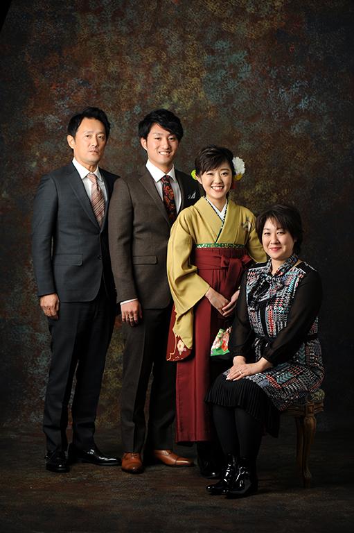 卒業袴:家族写真
