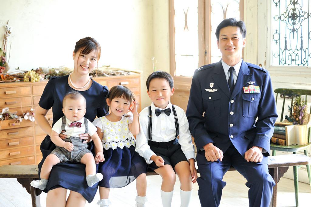 記念写真:退官記念 ご家族で